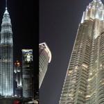 Kapitel: »Selamat Datang - Ankunft in Kuala Lumpur«, Seite 15 - 17 ... Kuala Lumpur by night: Wie zwei gewaltige, plastische Stehlampen wirken die Petronas Twin Towers bei Nacht.