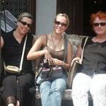 Katharina, Marina und Sabine in Singapur