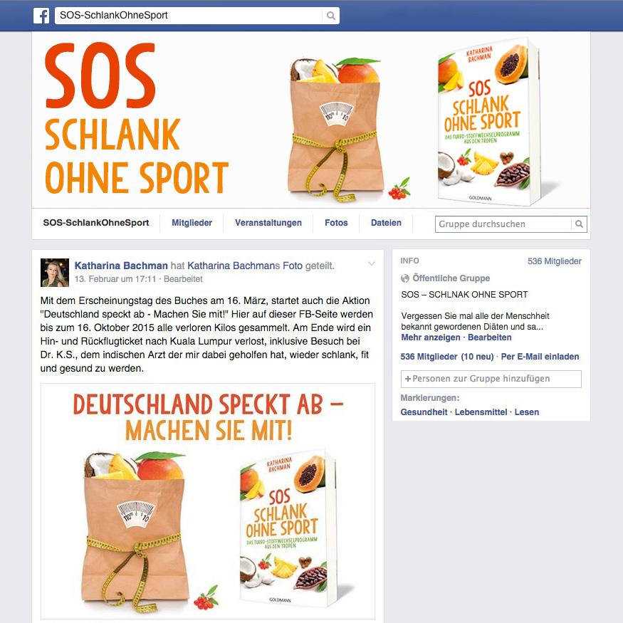 Facebook-Gruppe Schlank ohne Sport