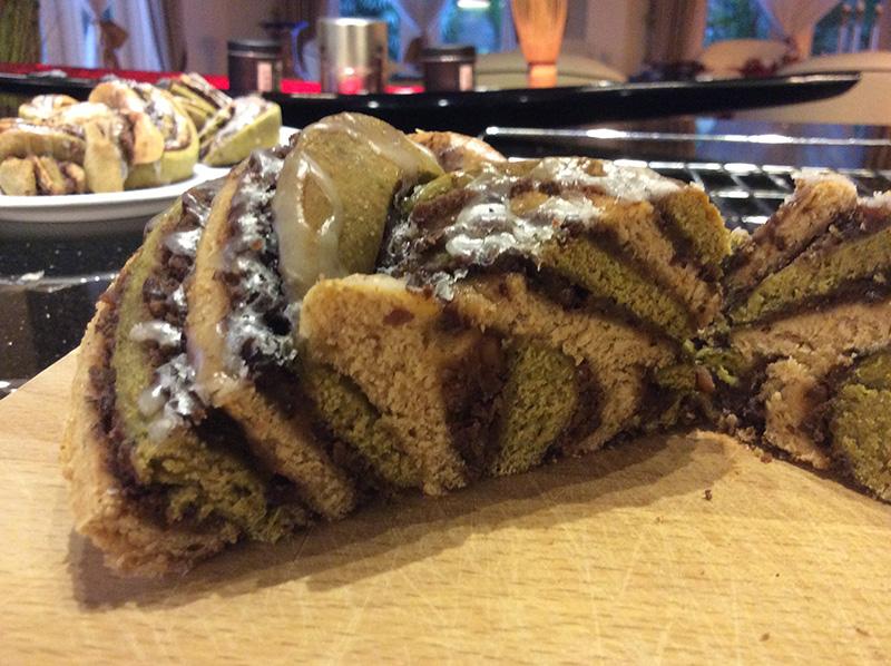 Matcha-Bohnen-Brot
