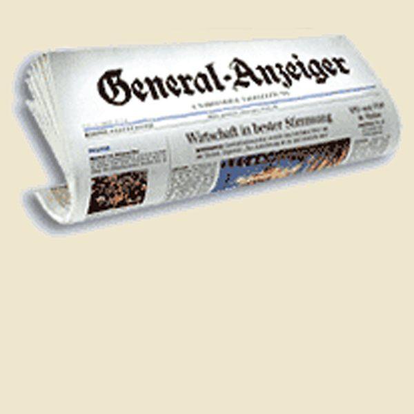 General Anzeiger Bonn<br />Nix wie weg …
